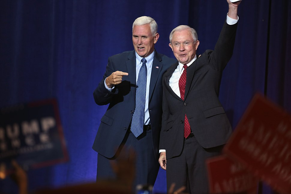 Mike Pence %26 Jeff Sessions (29299670541)
