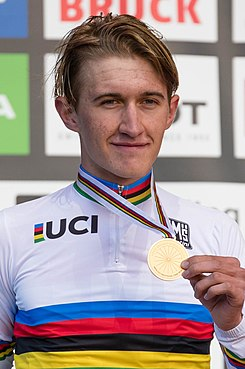 Mikkel Bjerg - UCI Road World Championships Innsbruck Men U23 ITT Award Ceremony (2018-09-24).jpg