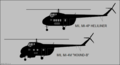 Mil Mi-4P and Mi-4M side-view silhouettes.png
