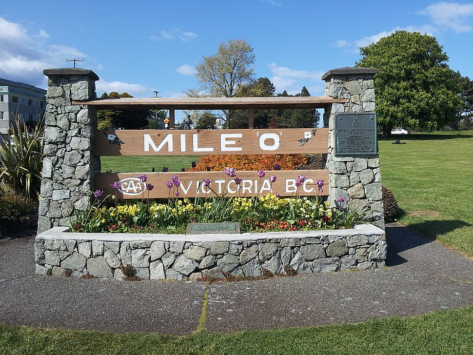Mile 0 Victoria B.C.
