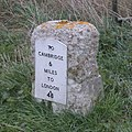 Milestone on Cambridge Road - geograph.org.uk - 741242.jpg