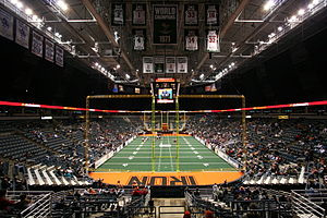 Milwaukee Mustangs (2009–12) - The Bradley Center setup for a game in 2009.