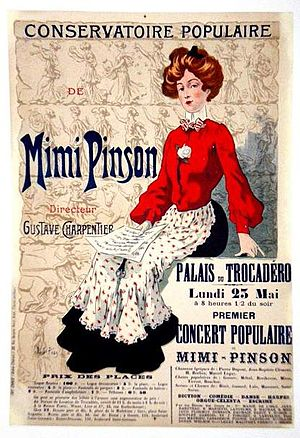 Gustave Charpentier - Poster advertising concert at the former Palais du Trocadéro