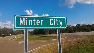 Minter City, Mississippi - Image: Minter City Highway Sign 2