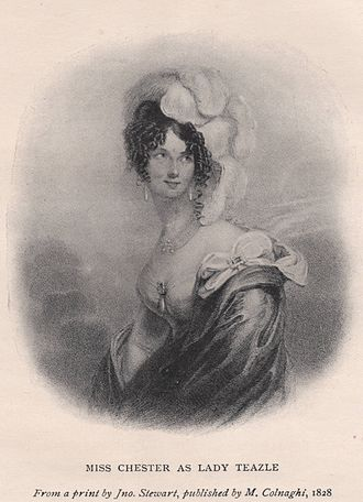 The School for Scandal - Miss Chester as Lady Teazle