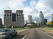 Mobile Alabama I-10 downtown
