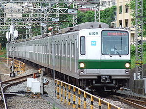Tokyo Metro 6000 series - A 6000 series train on the Odakyu Odawara Line in June 2006