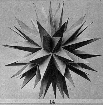 Max Brückner - Brückner's photo of the final stellation of the icosahedron, a stellated polyhedron first studied by Brückner