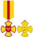 """Modelul desenat al Crucii """"Pentru Serviciu Impecabil"""" a Armatei Naționale clasa Veteran.png"""