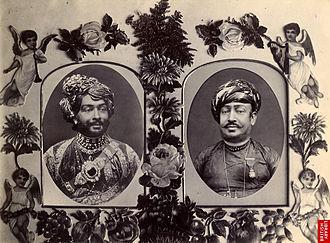 Junagadh State - Mohammad Rasul Khanji, Nawab of Junagadh, Bahaduddinbhai Hasainbhai, Wazier, Junagadh, 1890s