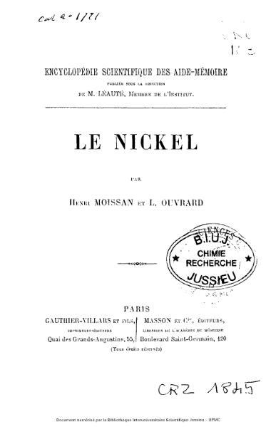 File:Moissan, Ouvrard - Le nickel.djvu