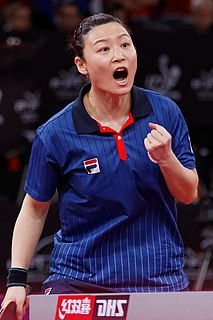 Jiang Huajun Hong Kong table tennis player