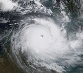 Cyclone Monica at peak intensity