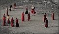 Monks play volleyball in Sikkim India.jpg