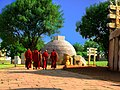 Monks visiting the Sanchi Stupa.jpg