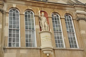 Shire Hall, Monmouth - The statue of Henry V at the Shire Hall