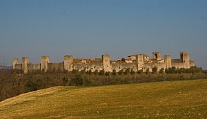 Monteriggioni - Panorama of Monteriggioni.