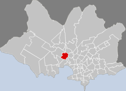Location of Belvedere in Montevideo