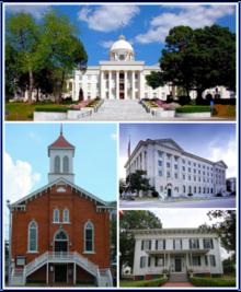 Montgomery, la capitale de l'Alabama