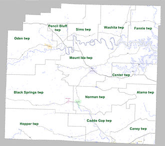 Montgomery County, Arkansas - Townships in Montgomery County, Arkansas as of 2010