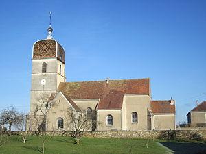 Comtois steeple - Church in Montholier - Jura