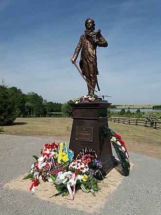 Tadeusz Kościuszko - Monument of Kosciuszko in Mieračoŭščyna, Belarus