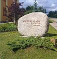 Monumental stone in Vainode.JPG