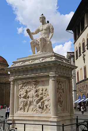 Piazza San Lorenzo - Monument to Giovanni delle Bande Nere