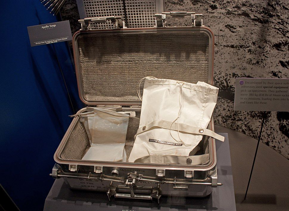 Moon sample case in National Museum of Natural History