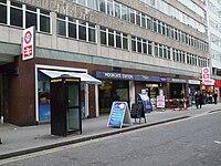 Moorgate station Moorfields west entrance.JPG