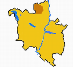 Morasko - Morasko (brown) within Poznań.