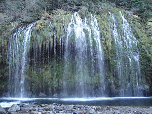 Dunsmuir, California - Mossbrae Falls, near north Dunsmuir