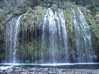 Siskiyou County, California - Mossbrae Falls, near Dunsmuir, California