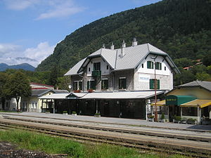 Most na Soci-train station-fom Podbrdo.jpg