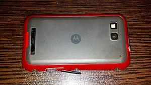 Motorola Defy - Image: Motorola Defy RED back