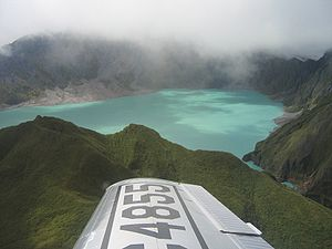 Crater lake on Mount Pinatubo, Luzon, Philippines