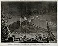 Mount Vesuvius in quiescence by night, 1757, with the Bay of Wellcome V0025239.jpg