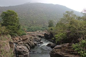 Hogenakkal Integrated Drinking Water Project - Mountain near the hogenakkal falls
