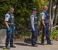 Mounties at the US-Canadian border, Rue du Roxham, Lacolle, QC.jpg