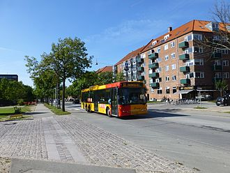 Vigerslev Allé - Vigerslev Allé with a Movia bus line 1A