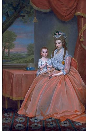 William Whiting Boardman - A portrait by the artist, Ralph Earl circa 1796 entitled Mrs. Elijah Boardman and her Son, William Whiting Boardman