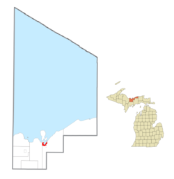 Location within Alger County