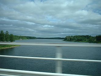 Muonio (river) - Muonio River in mid-July 2003