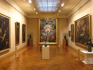 Goya Museum - Interior view of one of the galleries.