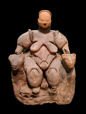 Hattians - Mother Goddess, figurine, c. 5750 BC; Museum of Anatolian Civilizations, Ankara