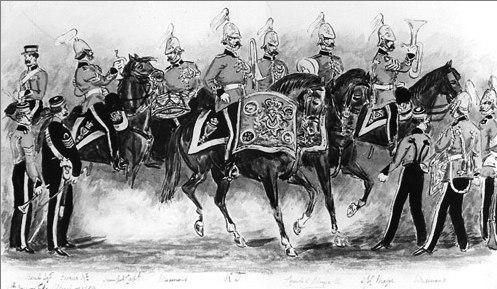 Musicians of the 4th Royal Irish Dragoon Guards