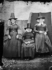 My mother (sitting) Shan y Lliwdy and Bontfaen maid