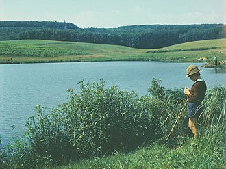 Petrușeni - Image: My sonny on fishing (1983). (7518989754)