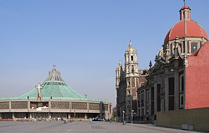 Religion in Mexico - The Basilica of Our Lady of Guadalupe is one of the most important pilgrimage sites of Christianity.