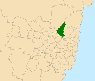 Electoral district of Ku-ring-gai - Location within Sydney